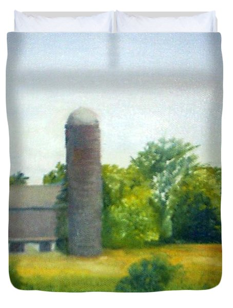 Farm In The Pine Barrens  Duvet Cover by Sheila Mashaw
