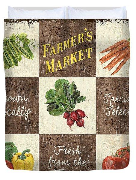 Farmer's Market Patch Duvet Cover by Debbie DeWitt