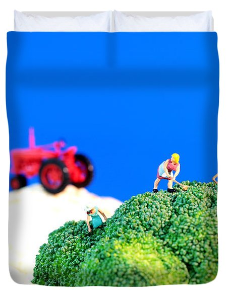 Farming On Broccoli And Cauliflower II Duvet Cover by Paul Ge