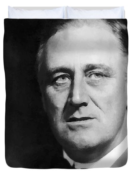 FDR Duvet Cover by War Is Hell Store