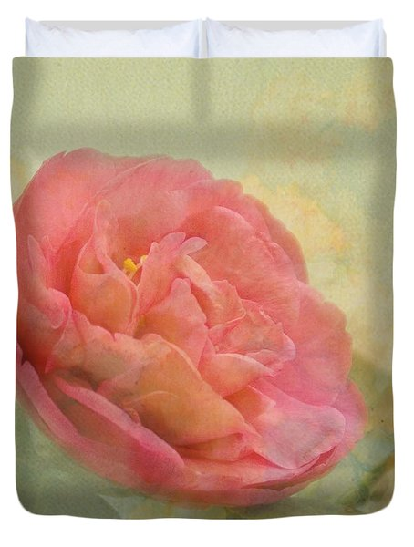 February Camellia Duvet Cover by Cindy Garber Iverson