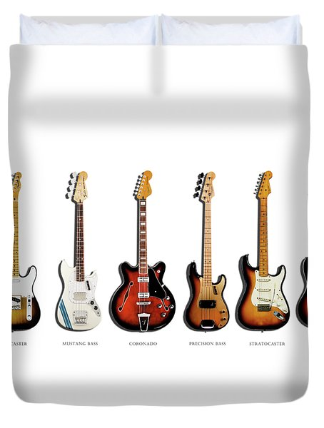 Fender Guitar Collection Duvet Cover by Mark Rogan