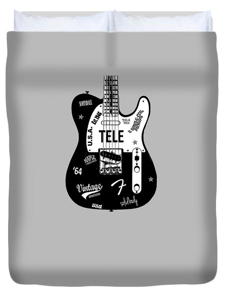 Fender Telecaster 64 Duvet Cover by Mark Rogan