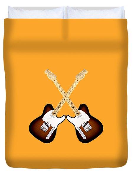 Fender Telecaster Sunburst Duvet Cover by Doron Mafdoos