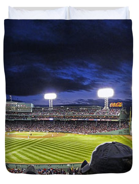 Fenway Night Duvet Cover by Rick Berk