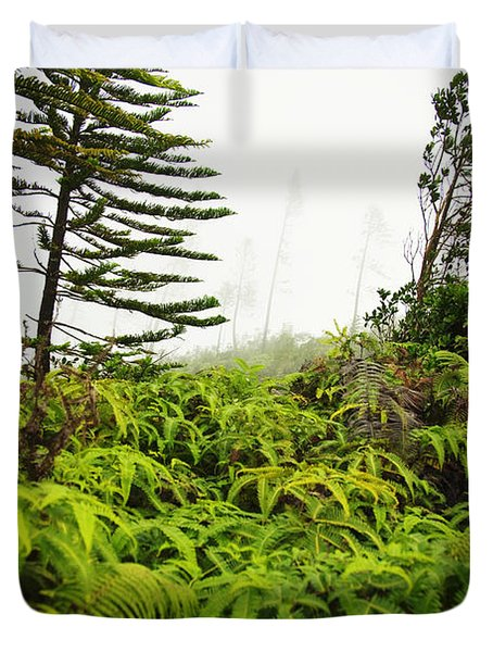 Fern and Norfolk II Duvet Cover by Ron Dahlquist - Printscapes