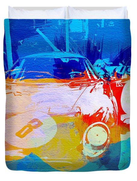 Ferrari Pit Stop Duvet Cover by Naxart Studio