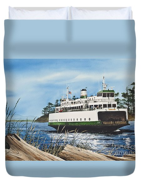 Ferry Illahee Duvet Cover by James Williamson