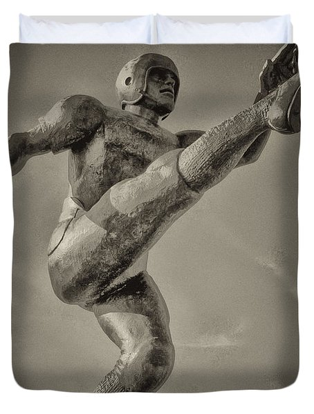 Field Goal Duvet Cover by Bill Cannon