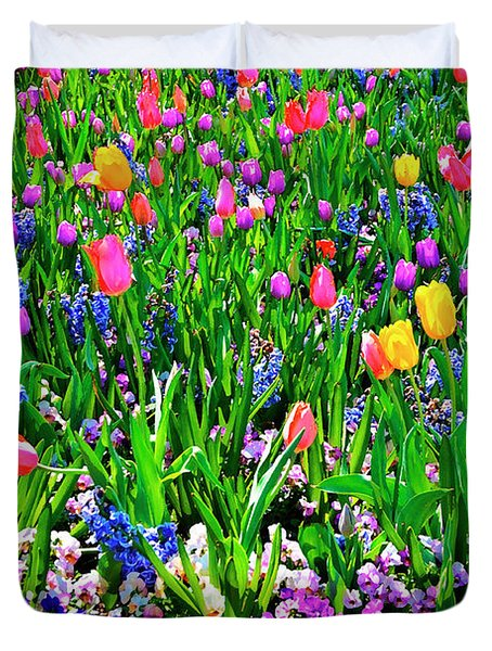 Field Of Flowers Duvet Cover by Tamyra Ayles
