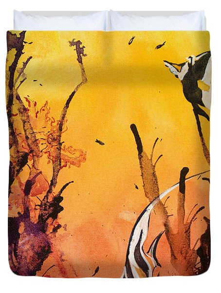 Fijian Friends Duvet Cover by Tanya L Haynes - Printscapes