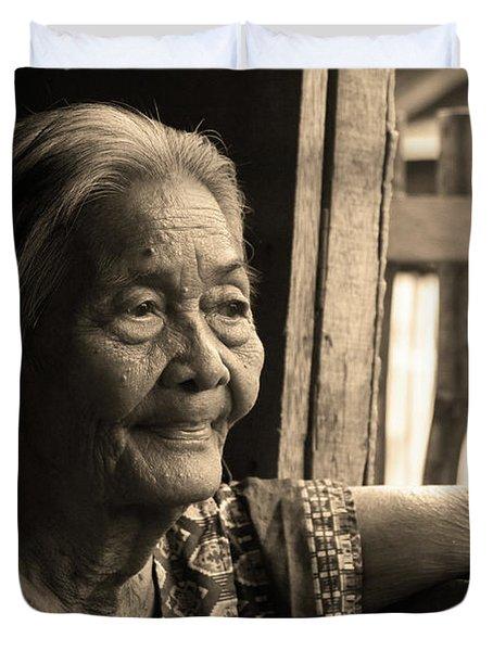 Filipino Lola - Image 14 Sepia Duvet Cover by James BO  Insogna