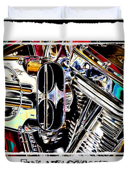 Fine Art Chopper II Duvet Cover by Mike McGlothlen