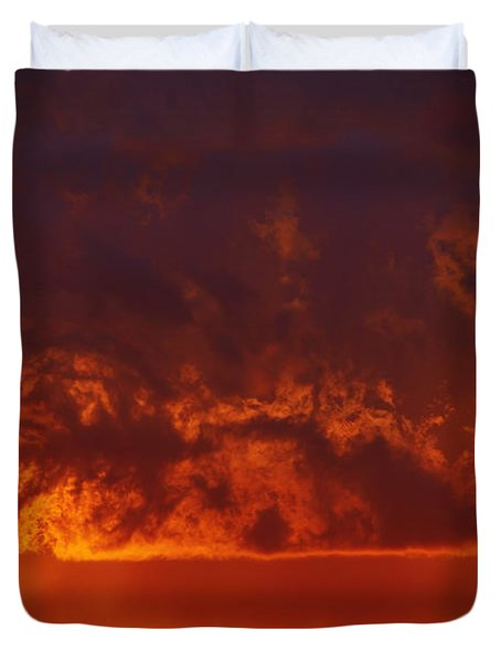 Fire Clouds Duvet Cover by Michal Boubin