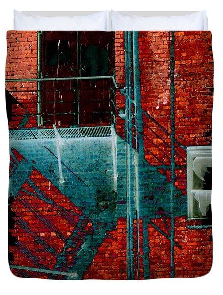 Fire Escape 7 Duvet Cover by Tim Allen