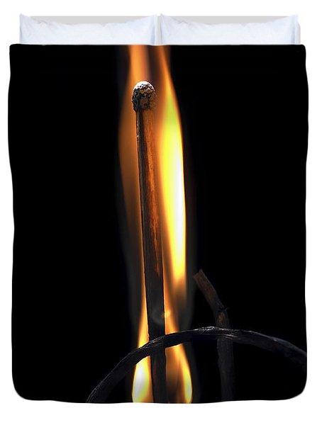 Fire Match Duvet Cover by Michal Boubin