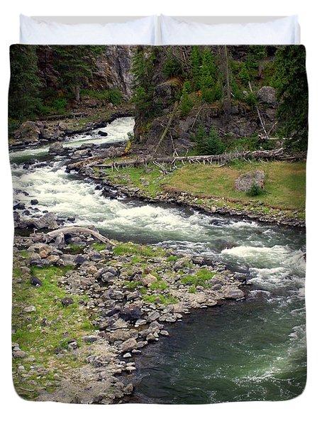 Firehole River 2 Duvet Cover by Marty Koch
