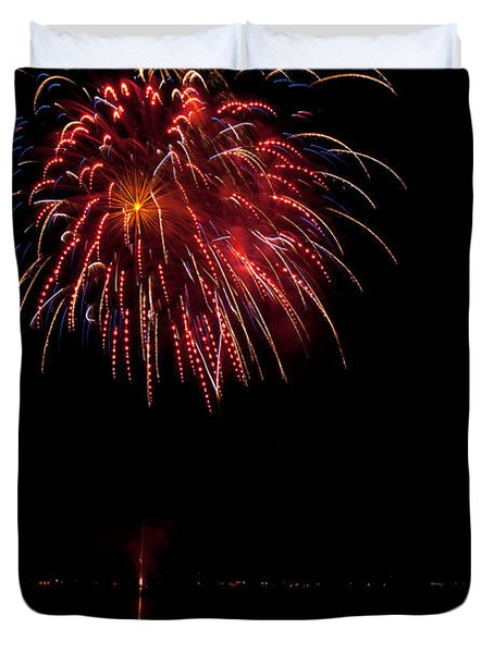 Fireworks II Duvet Cover by Christopher Holmes