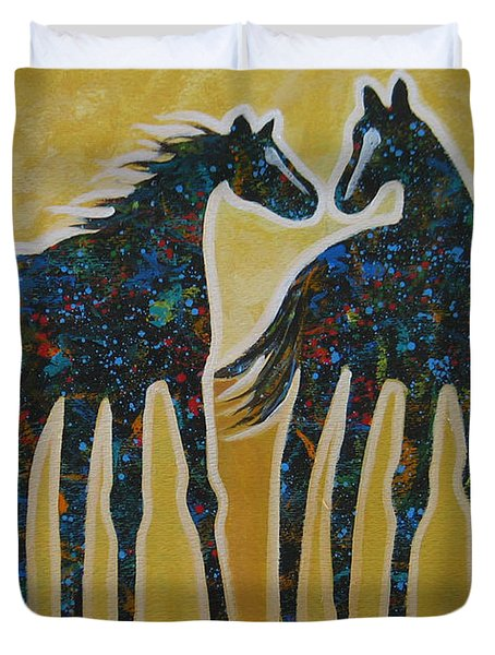 First Kiss Duvet Cover by Lance Headlee