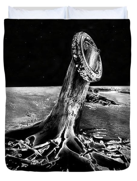 First Men On The Moon Duvet Cover by David Lee Thompson
