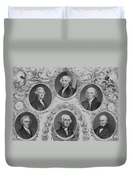 First Six U.s. Presidents Duvet Cover by War Is Hell Store