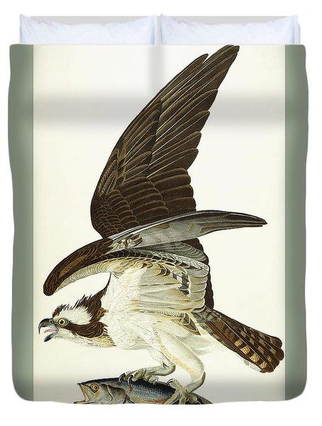 Fish Hawk Duvet Cover by John James Audubon