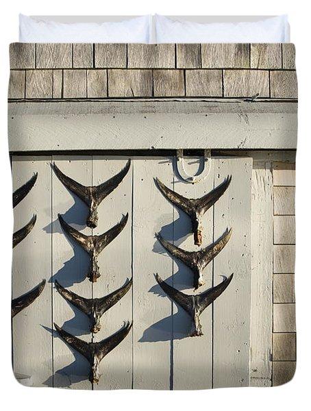 Fish Tail Shack Duvet Cover by John Greim