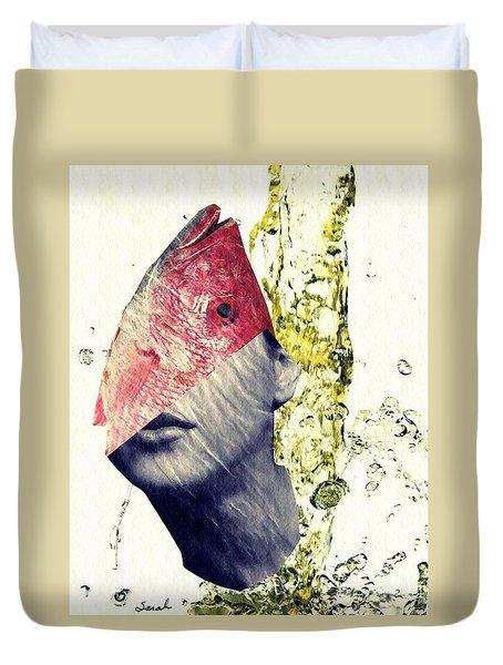 Fishhead Duvet Cover by Sarah Loft