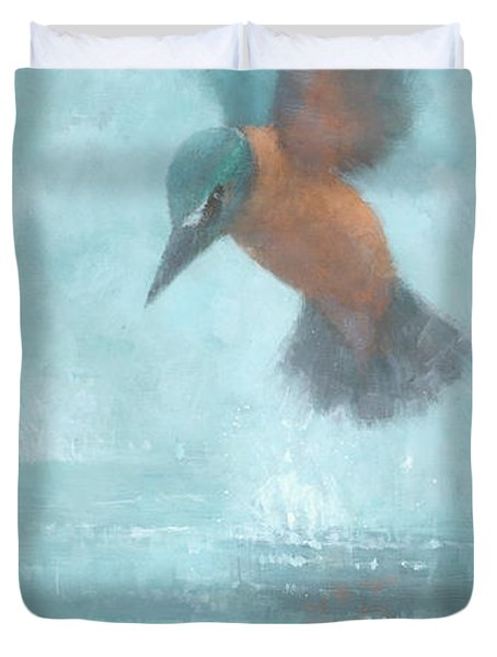 Flame In The Mist Duvet Cover by Steve Mitchell