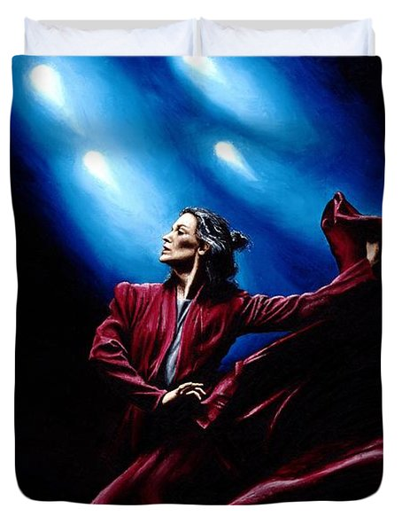 Flamenco Performance Duvet Cover by Richard Young
