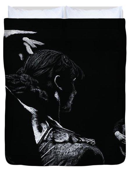 Flamenco Recital Duvet Cover by Richard Young