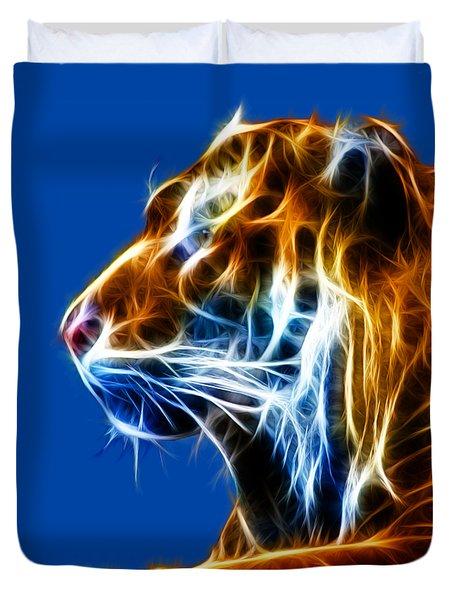 Flaming Tiger Duvet Cover by Shane Bechler