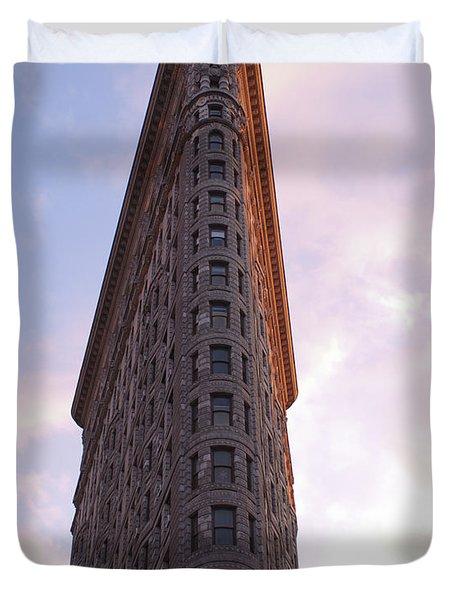 Flat Iron Building Duvet Cover by Henri Irizarri