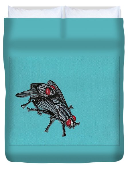 Flies Duvet Cover by Jude Labuszewski