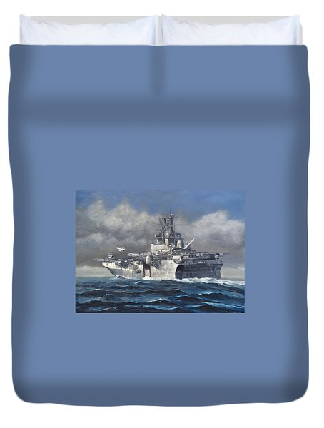 Flight Ops Duvet Cover by Stephen Roberson