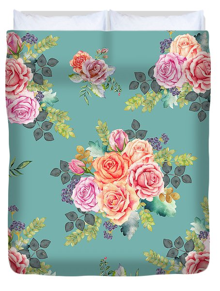 Floral Pattern 2 Duvet Cover by Stanley Wong