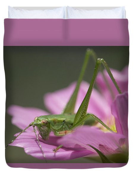 Flower Hopper Duvet Cover by Michael Eingle