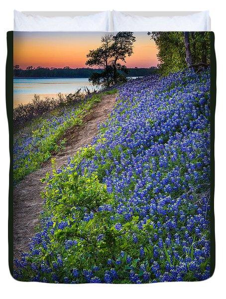 Flower Mound Duvet Cover by Inge Johnsson
