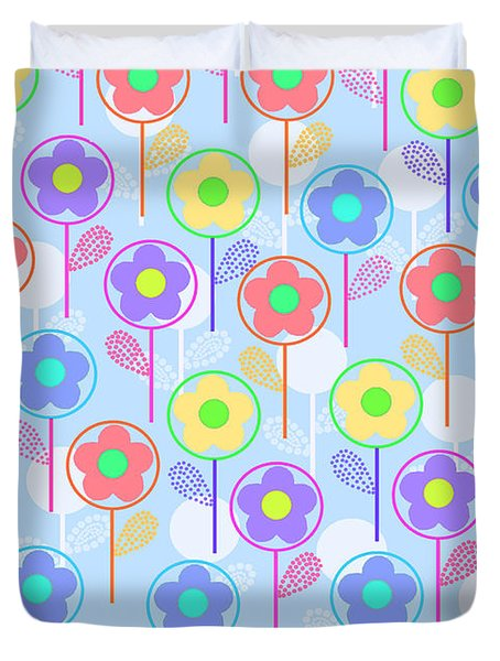 Flowers Duvet Cover by Louisa Knight
