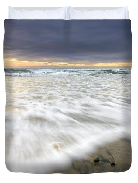Flowing Stones Duvet Cover by Mike  Dawson