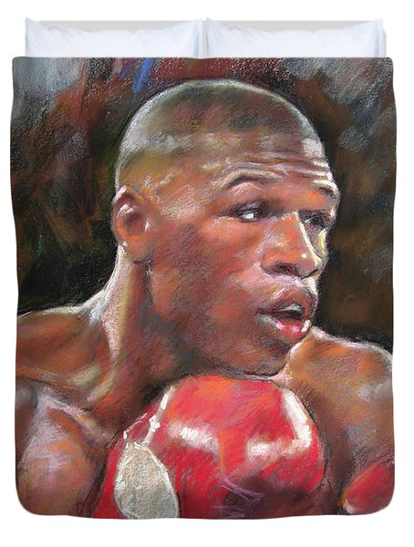 Floyd Mayweather Jr Duvet Cover by Ylli Haruni