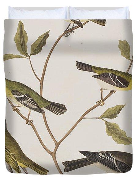 Fly Catchers Duvet Cover by John James Audubon