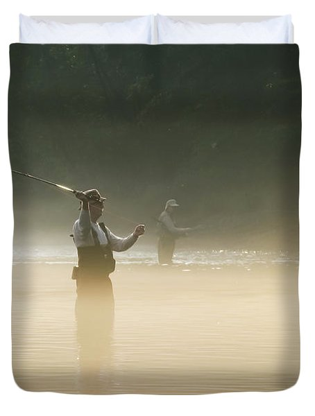 Fly Fishing  Duvet Cover by Betty LaRue