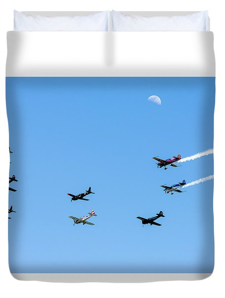 Fly Me To The Moon Duvet Cover by Marco Oliveira