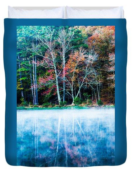 Fog On The Lake Duvet Cover by Parker Cunningham