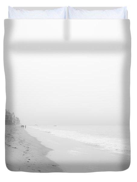 foggy Malibu Beach  Duvet Cover by Ralf Kaiser