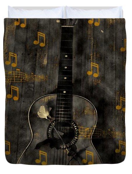 Folk Guitar Duvet Cover by Bill Cannon
