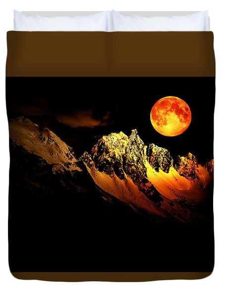 Follow Your Inner Moonlight Duvet Cover by Michele Cornelius