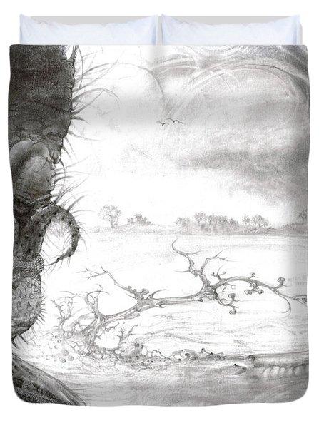 Fomorii Swamp Duvet Cover by Otto Rapp