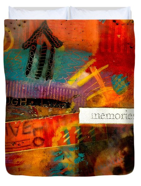 Fond Memories Duvet Cover by Angela L Walker